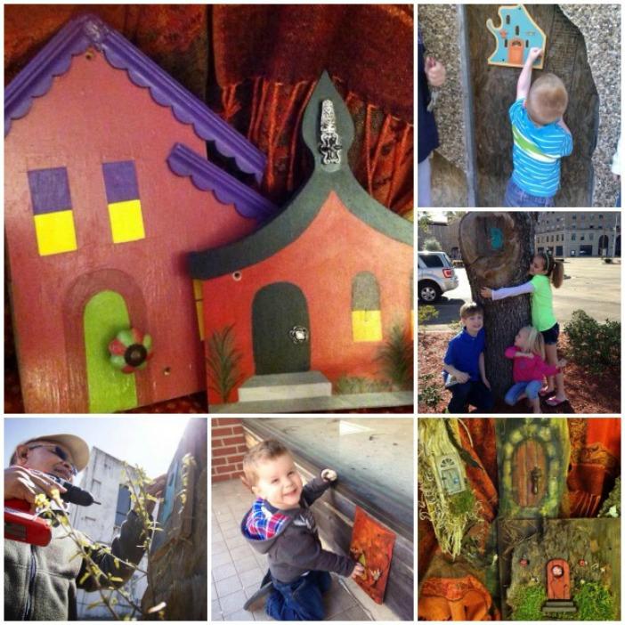 little doors collage