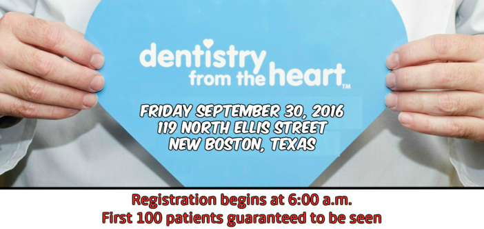 Dentistry from the Heart Free Dental Day Scheduled for Friday September 30