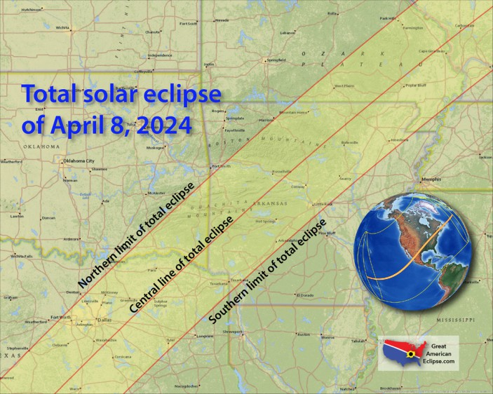 Texarkana In Path Of Totality For Solar Eclipse On April 8