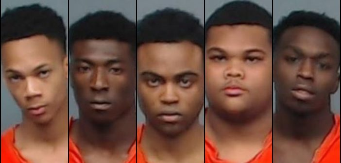 Five Texarkana Men Arrested for Aggravated Robbery and Organized Criminal Activity
