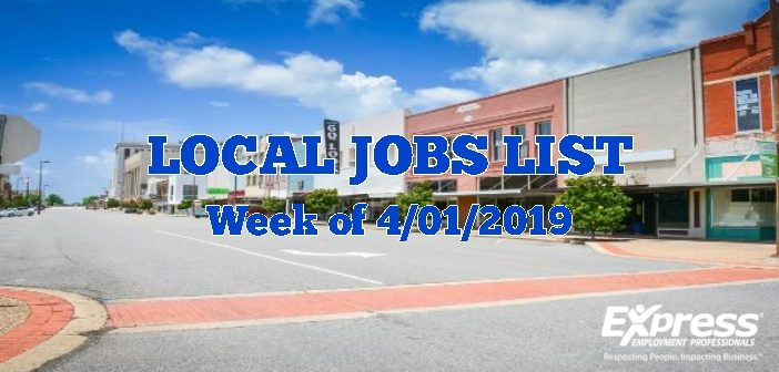 Local Jobs List with Positions Available Right Now