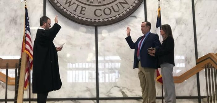 Sheriff Jeff Neal Sworn in at Bowie County Courthouse