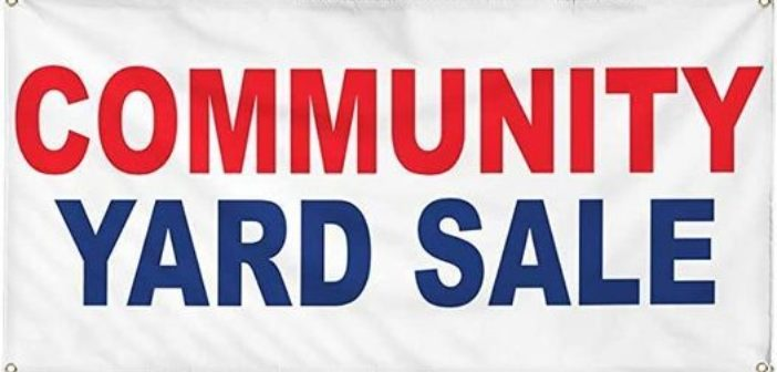 Community Wide Yard Sale and Electronics Recycling on May 8